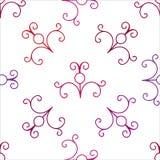 Vector nahtloses Muster Vektor-Locken-Dekoration für Tapeten-oder Einladungs-Karte Lizenzfreie Stockfotos