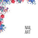 Vector nail lacquer bottles Stock Photography
