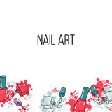 Vector nail lacquer bottles Royalty Free Stock Photo