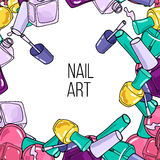 Vector nail lacquer bottles Stock Images