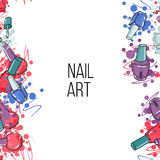 Vector nail lacquer bottles Stock Image