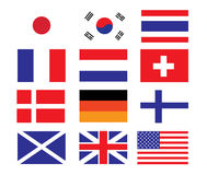Vector of National Flag Design Stock Images