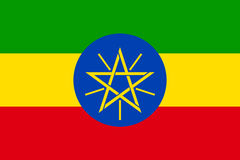 Vector national flag of Ethiopia. Royalty Free Stock Photography