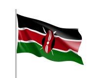 Vector national flag of Kenya. Royalty Free Stock Images