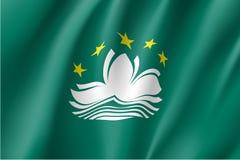 Vector national flag of Macau. Stock Photography