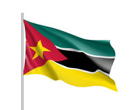 Vector national flag of Mozambique. Stock Photos