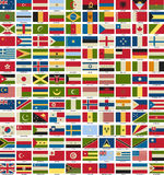 Vector of National Flags Symbol Illustrator. Royalty Free Stock Images