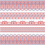 Vector national folk seamless pattern for textiles, postcards, background. Stock Photos