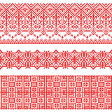 Vector national folk seamless pattern for textiles, postcards, background. Collection of Slavic patterns. Russian, Ukrainian, Belarusian. Cross stitch on the stock illustration