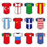 Vector national soccer uniforms Stock Image