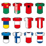 Vector national soccer uniforms Stock Images
