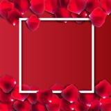 Vector natural abstracto I de Rose Petals Frame Background Realistic Fotos de archivo libres de regalías