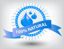 Vector natural blue label illustration Stock Photo