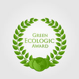 Vector natural / ecologic award Royalty Free Stock Images