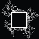 Vector natural floral frame Royalty Free Stock Photo