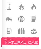 Vector natural gas icon set Stock Photos