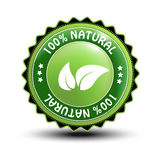 vector natural label Stock Photography