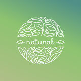 Vector natural label in trendy linear style Stock Photos