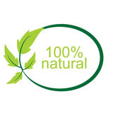 Vector 100 % natural logo and symbol. Vector 100 % natural logo and symbol royalty free illustration