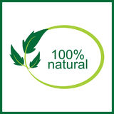 Vector 100 % natural logo and symbol. 100 % natural eco logo and symbol vector illustration