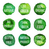 Vector natural organic badges and labels Stock Photography