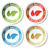 vector natural stickers Royalty Free Stock Photos