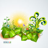 Vector nature background Stock Photos