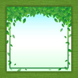 Vector nature background banner with green leaf frame. Vector nature background banner with nature green leaf frame Royalty Free Stock Image