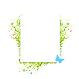 Vector nature elements frame vector illustration