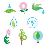 Vector nature icon set. Set of  nature icons collection Stock Image