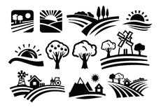 Vector nature icons Royalty Free Stock Image