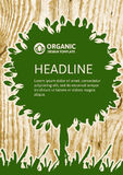 Vector nature organic template for brochure, flyer, magazine cov Royalty Free Stock Photo