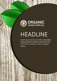 Vector nature organic template for brochure, flyer, magazine cov Stock Image