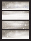 Vector nature snowfall banners. Royalty Free Stock Photography