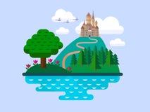 Vector natuurlijke landschappen Royalty-vrije Stock Afbeeldingen