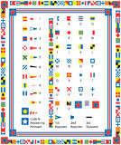 Vector Nautical Flags and Borders Stock Images