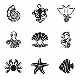 Vector Nautical icon set Stock Images