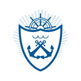 Vector nautical label. vintage logo, icon and design element. Royalty Free Stock Photos