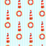 Vector nautical pattern Stock Images