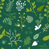 Green  seamless background Royalty Free Stock Images