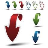 Vector navigation arrows Stock Photos