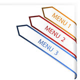 Vector navigation arrows on the white paper Stock Photography