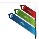 Vector navigation arrows on the white paper Stock Photo