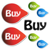 Vector Navigation buy stickers Royalty Free Stock Image