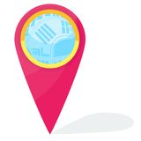Vector navigation icon Royalty Free Stock Photography