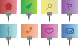 Vector navigation icon set with symbols. Shiny Vector navigation icon set with different symbols Stock Photography