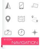 Vector navigation icons set Stock Photos