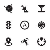 Vector navigation icons set Stock Images