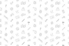 Vector Navigation pattern. Navigation seamless background. Vector illustration Royalty Free Stock Image