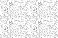 Vector Navigation pattern. Navigation seamless background. Vector illustration Royalty Free Stock Images